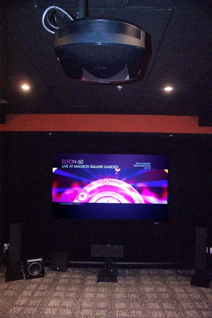 Sony HD projector and screen
