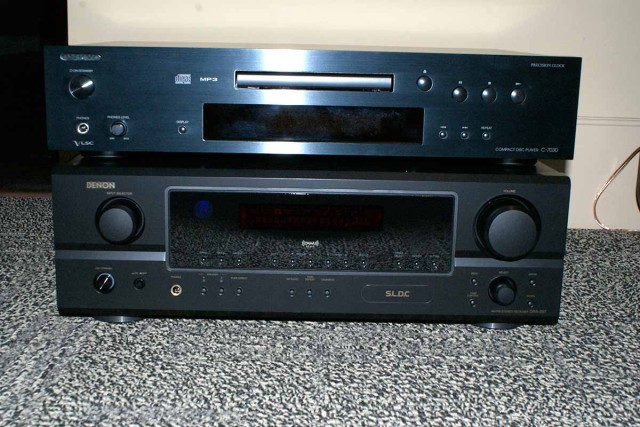 Stereo receiver and CD player