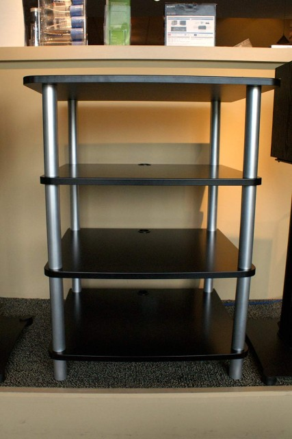 Audio/video stand for a stereo system