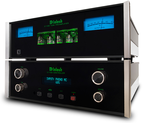 McIntosh C1100 dual chassis tube preamp and controller for sale - Stereo Barn