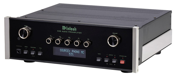 McIntosh C48 preamp front angle view