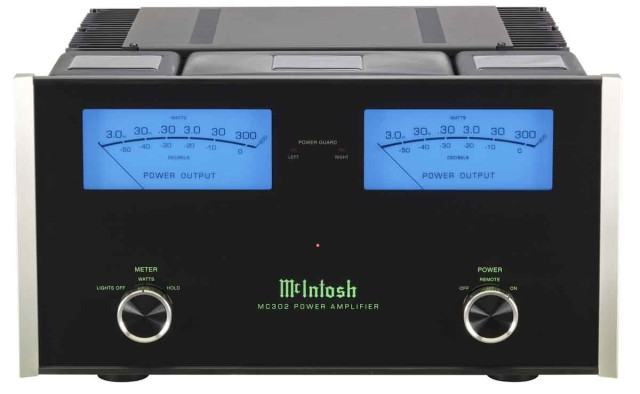 McIntosh MC302 amplifier front view - Stereo Barn