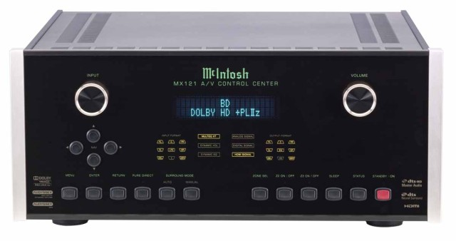 McIntosh MX121 Surround Sound Processor front view - Stereo Barn