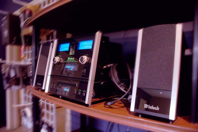 McIntosh MXA60 stereo system on a shelf - Stereo Barn